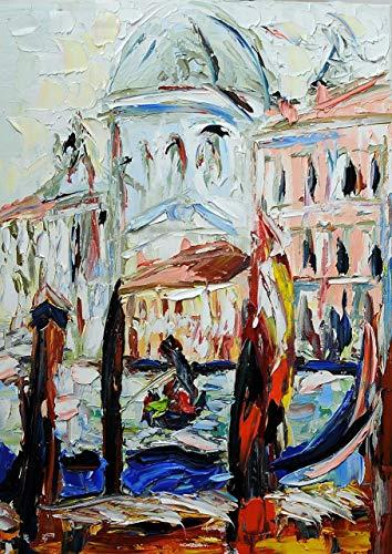 Venezia foschia olio su tela 70x50cm Originale zeitgenössische Kunst, direkt vom Künstler handgemalt reine Ölfarben, impressionistischer Stil