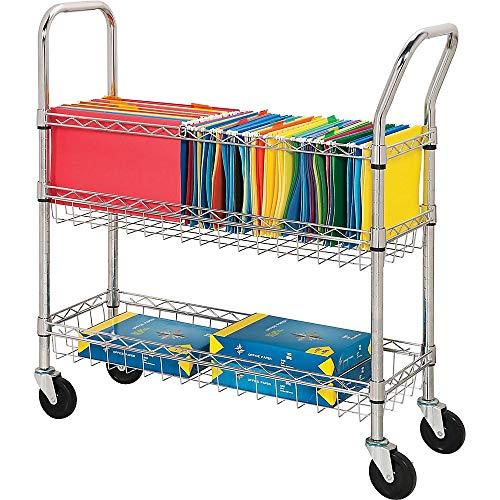 Lorell LLR84857 Wire Mail Cart