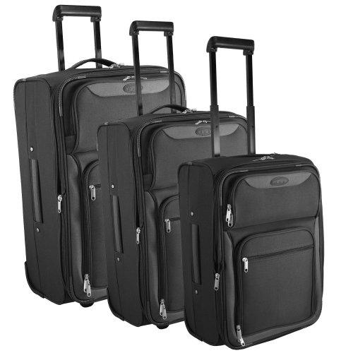 d & n Travel Line 6800 kofferset 3-delig, zwart (zwart) - 6800-01