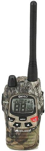 Midland G9 Pro Radio Talkie Walkie Dual Band 40 canaux PMR446 et 69 canaux LPD - 1 émetteur, 4 Piles Rechargeables Ni...