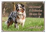 Petsigns Australian Shepherd Hundeschild - DIN A4 thumbnail