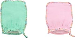 Prettyia 2 Pack Shower Glove Bath Gloves For Men Women Kids, Made Of Natural Fiber