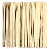 ZCDA Bamboo Cocktail Sticks 1000pcs Set Safe Single End Toothpicks for Dental Teeth Sturdy Food Picks for Barbecue Fruit Appetizer Olive-65mm Length