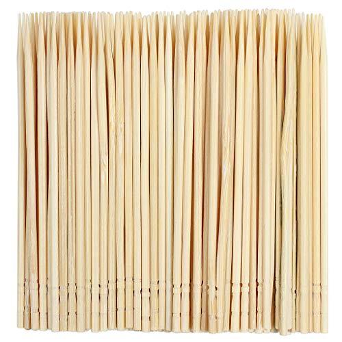 YICOTA Palito de cóctel de bambú, Conjunto de 1000 Piezas de Palillos Seguros de Dientes a Extremo único, Recogido de Comida Robusta por Barbacoa, Fruta, Aperitivo, Oliva –6.5cm