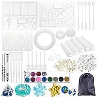 Walory 樹脂シリコーン型、宝石類のための94PCS樹脂の鋳造のシリコーン型DIYの樹脂のペンダント作成技術