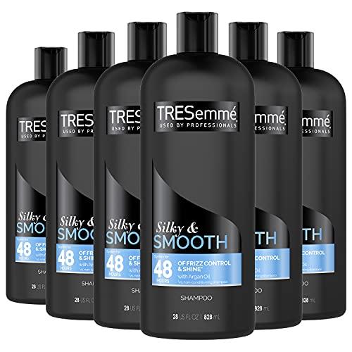 TRESemmé Touchable Softness Anti Frizz Shampoo Shampoo for Shiny Hair Smooth & Silky Moroccan Argan Oil Dry Hair Shampoo Formula 28 oz, Pack of 6
