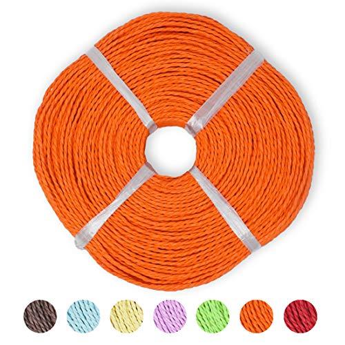 famos Papier Flechtschnur Papierschnur Korbflechten (orange)