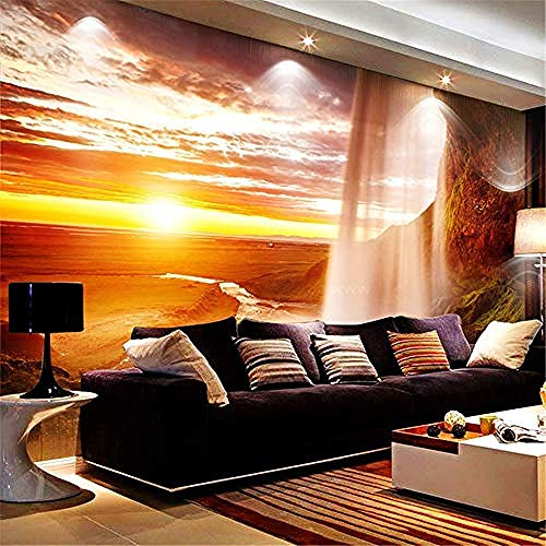 XHXI 3D Murals for Living Room Custom Photo Wallpaper 3D Nature Scenery Wall Mural Bedroom Living Room Sofa TV Backdrop 3D Wallpaper Paste Living Room The Wall for Bedroom Mural border-150cm×105cm