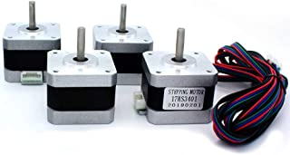 Twotrees Stepper Motor Nema 17 Motor High Torque 1.5A 42N.cm 17HS4401 60oz.in 1.8 Degree 38MM 4-Lead with 1m Cable and Connector for 3D Printer