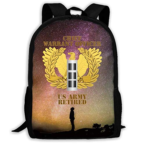 XCNGG Us Army Retired Chief Warrant Officer Emblem Cw3 Large Capacity Travel Computer Backpack, Adult Printed Backpack, Anti Splash Student School Backpack