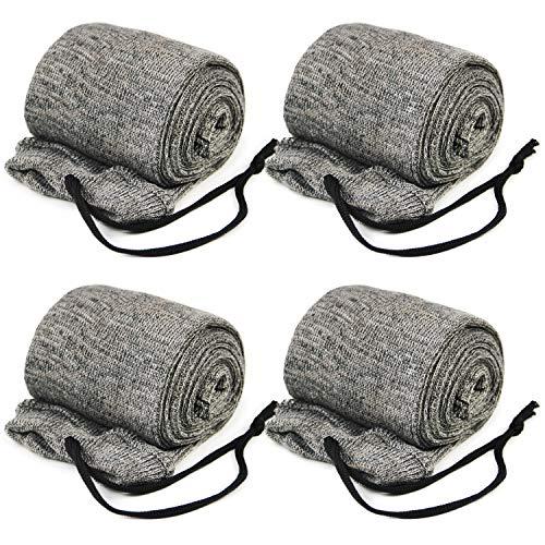 GUGULUZA Socken für Gewehre,Silikon Öl behandelt Knit Fabric Shotgun Gewehr Storage Gun Socke 132 cm (Grau)