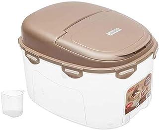 AWAING Bocaux Céréales Conteneurs de riz Boîte de rangement en plastique Joint d'humidité Preuve de cuisine Grain Conteneu...