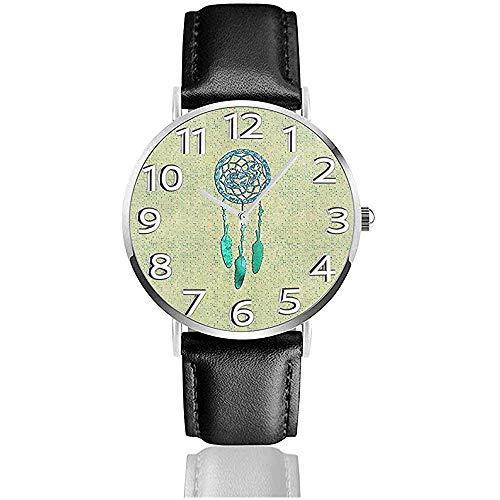 Relojes De Pulsera Cuarzo Lobo Azul Aborigen Campanas De Viento Reloj Unisex...