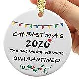 Two-Side Printed 2020 Christmas Ornament, 2020 Quarantine Ornament, Funny 2020 Ornament, Friends...