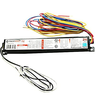 GE Lighting 74472 GE240RS-MV-N 120/277-Volt Multi-Volt ProLine Electronic Fluorescent T12 Programmed Rapid Start Ballast 2 or 1 F40 or F34T12 Lamps