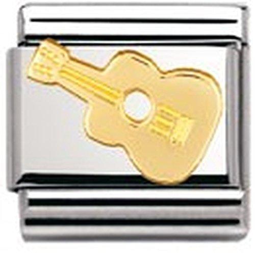 Nomination Composable Classic Music Edelstahl und 18K-Gold (Gitarre) 030117