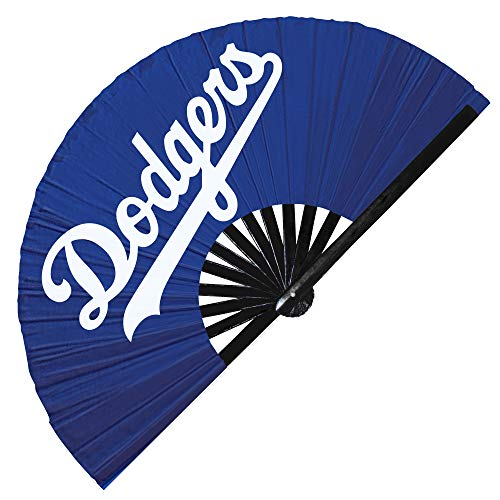 Hypnotiq Dodgers Faltfächer Dodgers Merchandise Dodgers Flag Handfächer UV Glow Handfächer Dodgers Baseball Faltfächer (Blau)