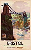 Travel By Rail Bristol Blechschild, Poster, Wandschild,