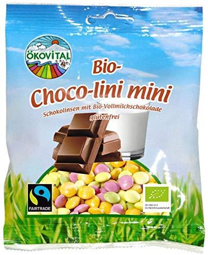 Ökovital Bio Bio Choco lini mini, Schokolinsen (2 x 100 gr)