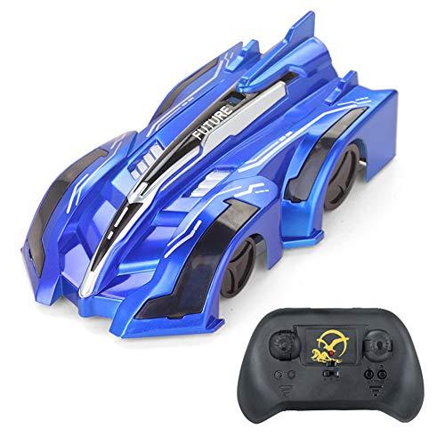 Wan&ya Coche de Escalada de Pared RC Coche eléctrico antigravedad Juguete Giratorio de 360 ° Modos Dobles Techo Stunt Autotoy Car, Vehículos de Carreras con Carga USB para Niños,Azul