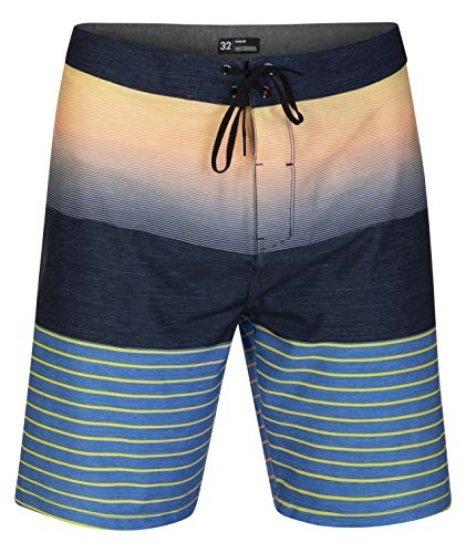 "Hurley Men's Phantom Backyards 20"" Inch Swim Short Boardshort, Obsidian, 32"