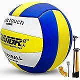 Senston Ballon de Volley pour Intérieur Extérieur, Soft Touch Beach Volley-Ball Officielle Taille 5