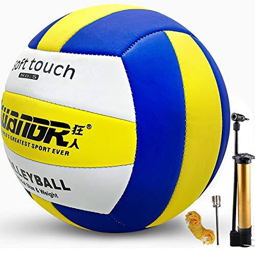 Senston Pallone da Pallavolo interno all'aperto, Morbida Toccare Spiaggia Pallavolo Taglia Ufficiale 5