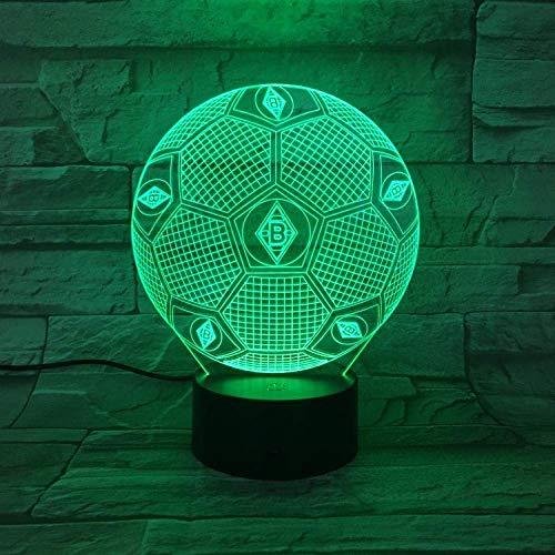 3D Nachtlicht Gladbach Fußball Illusion Tischlampe Led 7 Color Touch Fernbedienung Color Mood Lampe Usb Home Schlafzimmer Nachttischlampe