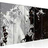 Runa Art Wandbild XXL Abstrakt Milk & Coffee 200 x 80 cm