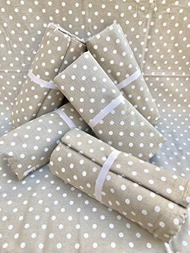 L'EMPORIO CASA WEB - Tela decorativa para sofá a lunares 180 x 260 – 260 x 280 cm, multiusos, de algodón resistente, tamaño maxi – Granfoulard colcha para cama – Fabricado en Italia (160 x 280 cm)