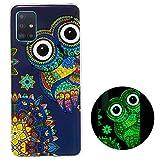 YiKaDa - Hülle für Samsung Galaxy A51 Hülle, Superdünnes Weiches TPU Silikon Anti-Scratch Schutzhülle für Samsung Galaxy A51 - Glitzereule