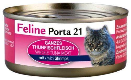 Feline Porta Katzenfutter Feline Porta 21 Thunfisch plus Schrimps 156 g, 6er Pack (6 x 156 g)
