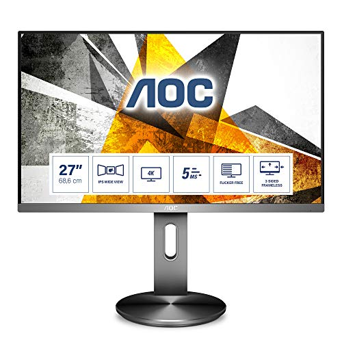 AOC Monitor U2790PQU- 27' UHD, 60 Hz, IPS, FlickerFree,...