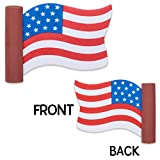 Coolballs Cool Patriotic USA American Waving Flag Car Antenna Topper/Mirror Dangler/Desktop Spring Stand (Auto...