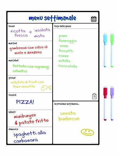 lavagna magnetica elettronica Smart Panda Lavagna Calendario Magnetico Frigorifero - Perfetta per Pianificare I Pasti