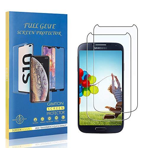 GIMTON Displayschutzfolie für Galaxy S4, 9H Härte Kratzfest Panzerglasfolie, Ultra Transparente Schutzfilm aus Gehärtetem Glas für Samsung Galaxy S4, 2 Stück