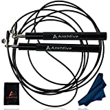 ANKHTIVE Speed Skipping Jump Rope Aluminium Handle, Bundle with Cooling Towel & Carrying