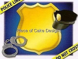 1/4 Sheet - Police Officer - Edible Cake/Cupcake Topper
