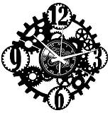 Instant Karma Clocks Reloj de Pared de Vinilo Gothic Steampunk Engranajes