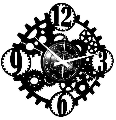 Instant Karma Clocks Wanduhr aus Vinyl Schallplattenuhr Gothic Steampunk Motiv
