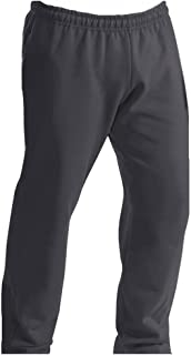 Adult Soft and Cozy Classic Style Open Bottom Sweatpants in 8 Colors, Charcoal, S