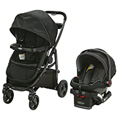 Includes the Graco Snug Ride Snug Lock 35 Infant Car Seat, rear facing for infants from 4 35 pound and up to 32 inches 3 strollers in 1 with 10 riding Options from infant to toddler: 1. Infant Car Seat Carrier 2. Infant Stroller 3; Toddler Stroller I...