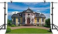 HiYash 10x8ft 青い空の背景教会の背景の誕生日パーティー赤ちゃんの誕生日の装飾バナー美しい記憶のビニール素材で広く使われている背景とアートワークの家の装飾