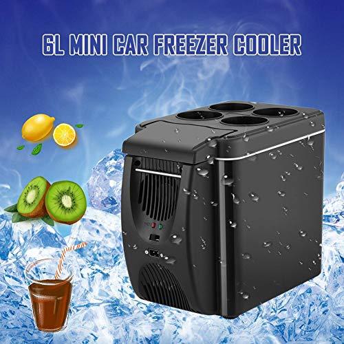 duhe189014 Tragbarer KFZ-Kühlschrank, Mini-Gefrierschrank, Kühler und Wärmer für Mikro-Kühlschrank, 12 V, Grün