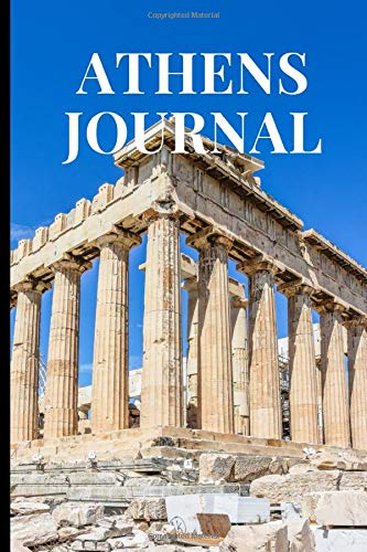 Athens Journal: Athens Theme Novelty Gift ~ Small Lined Travel Notebook (6' x 9')