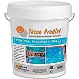 Tecno Prodist TECNOSAL Piscinas y SPA 20 kg - Sal Especial para la cloración Salina de Piscinas, SPA y Jacuzzis - En Cubo Fácil Aplicación