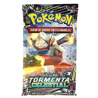 Pokemon JCC- Tormenta Celestial sobre 10 Cartas - Español (ASMODEE POSMCS02) de ASMODEE
