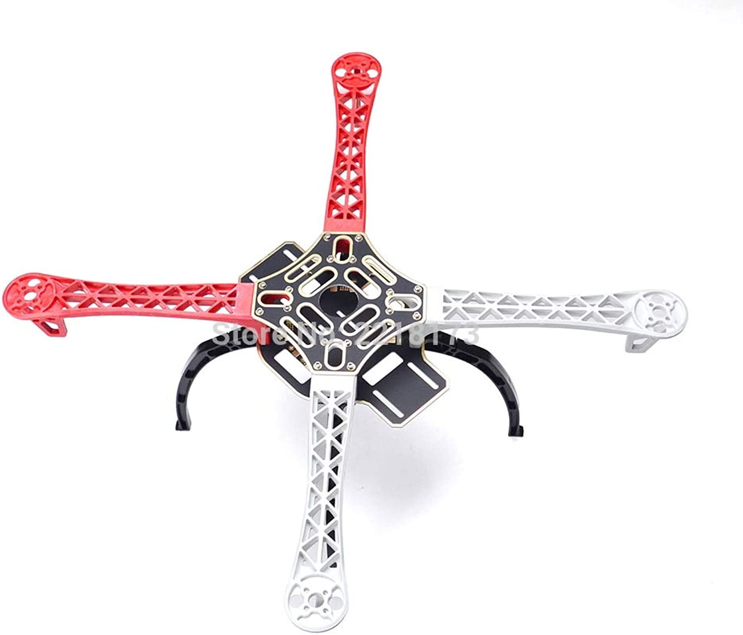 Laliva F450 450mm 4Axis MultiCopter Quadcopter Frame with red and White arm   Plastic Landing Gear  (color  Without Landing Gear)