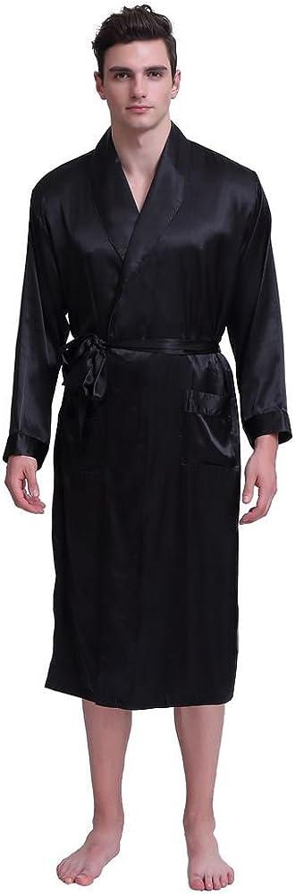 Men's Silk Satin Solid Color Robe