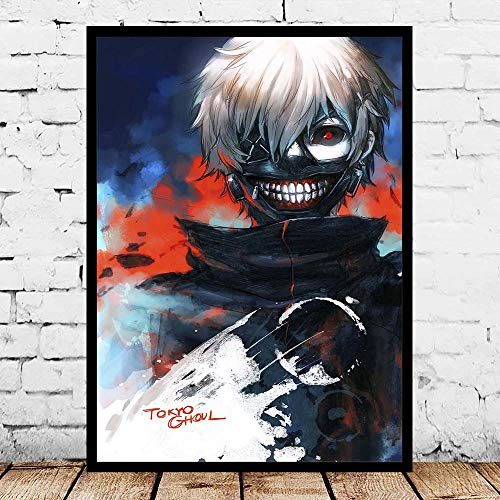 Jigsaw puzzle 1000 piece Nordic style modern Tokyo ghost picture art painted watercolor jigsaw puzzle 1000 piece Educational Intellectual Decompressing Toy Puzzles Fun Family Game50x75cm(20x30inch)